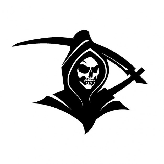 Black death grim reaper clip art Vector.