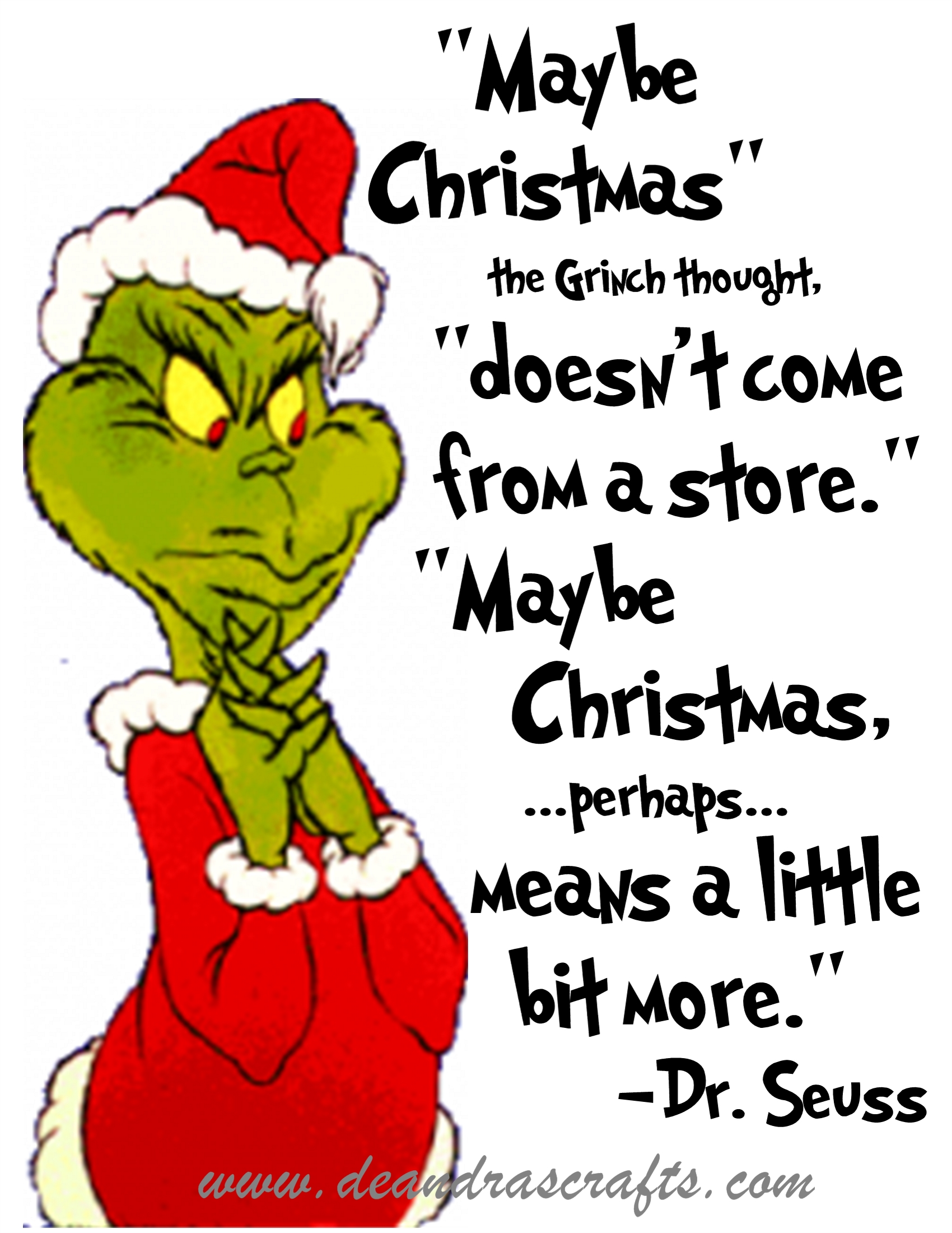 Clipart Grinch Stole Christmas Quotes Transparent.