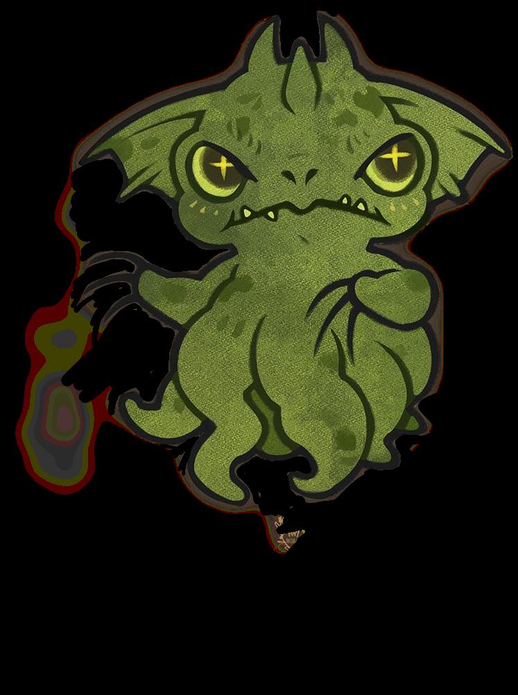 grindylow monster green зелёный.