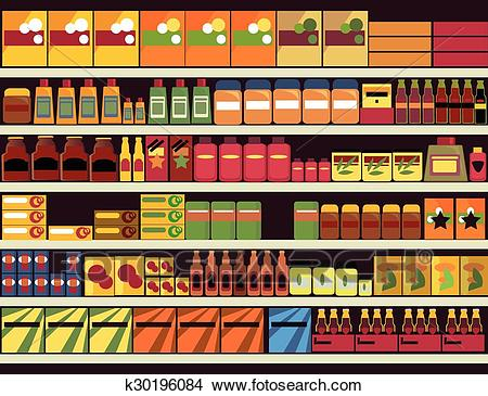 Grocery store background Clipart.