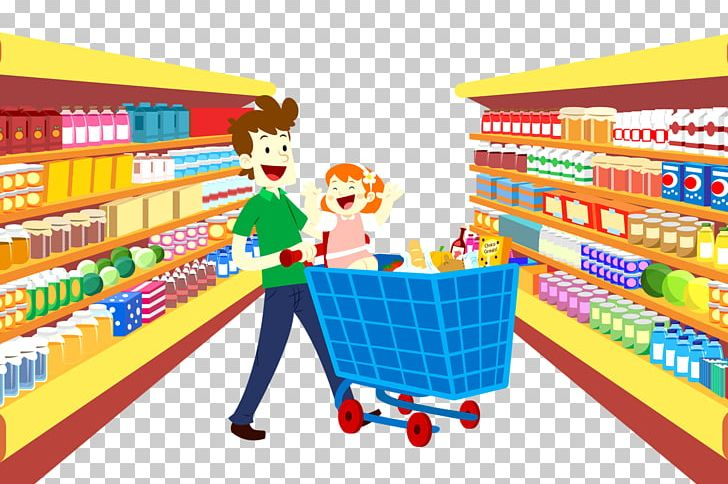Grocery Store Supermarket Cartoon Shopping Bag PNG, Clipart.
