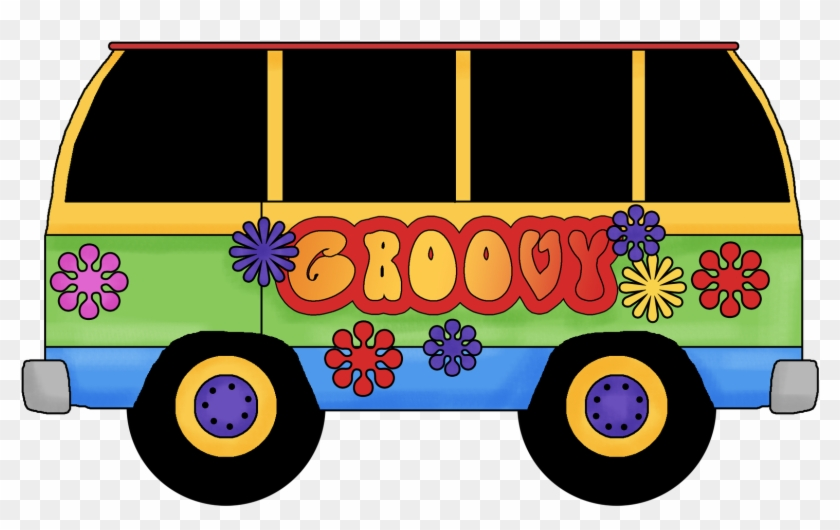 Groovy Bus Clipart Image Black And White Download.