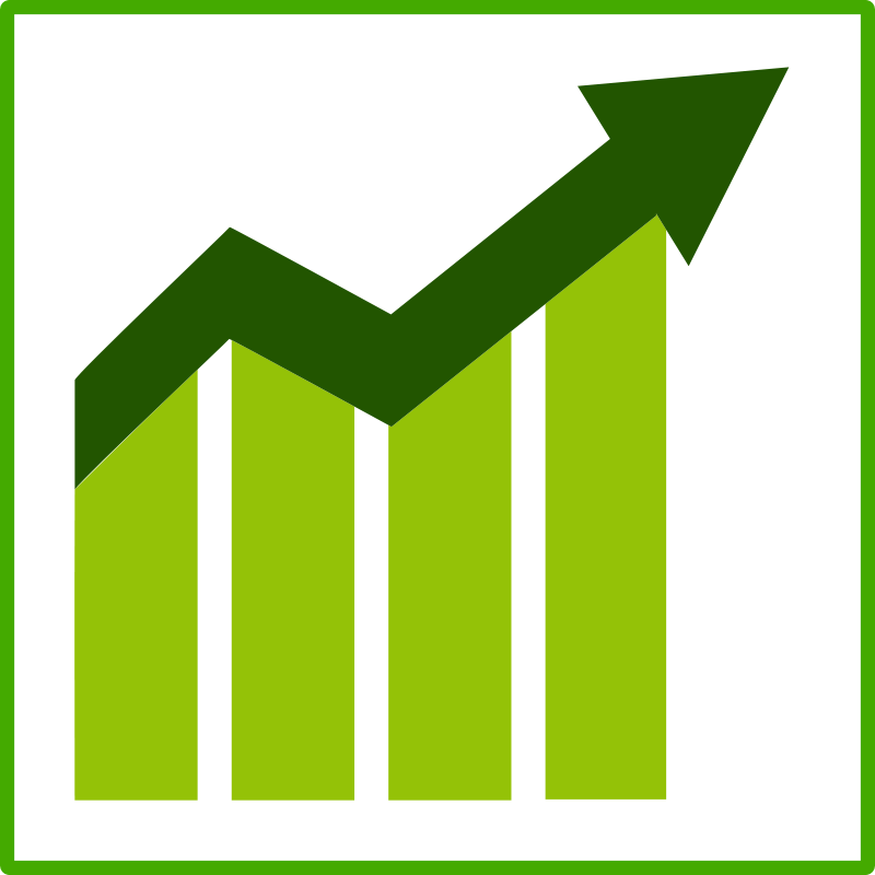 Free Clipart: Eco green growth icon.