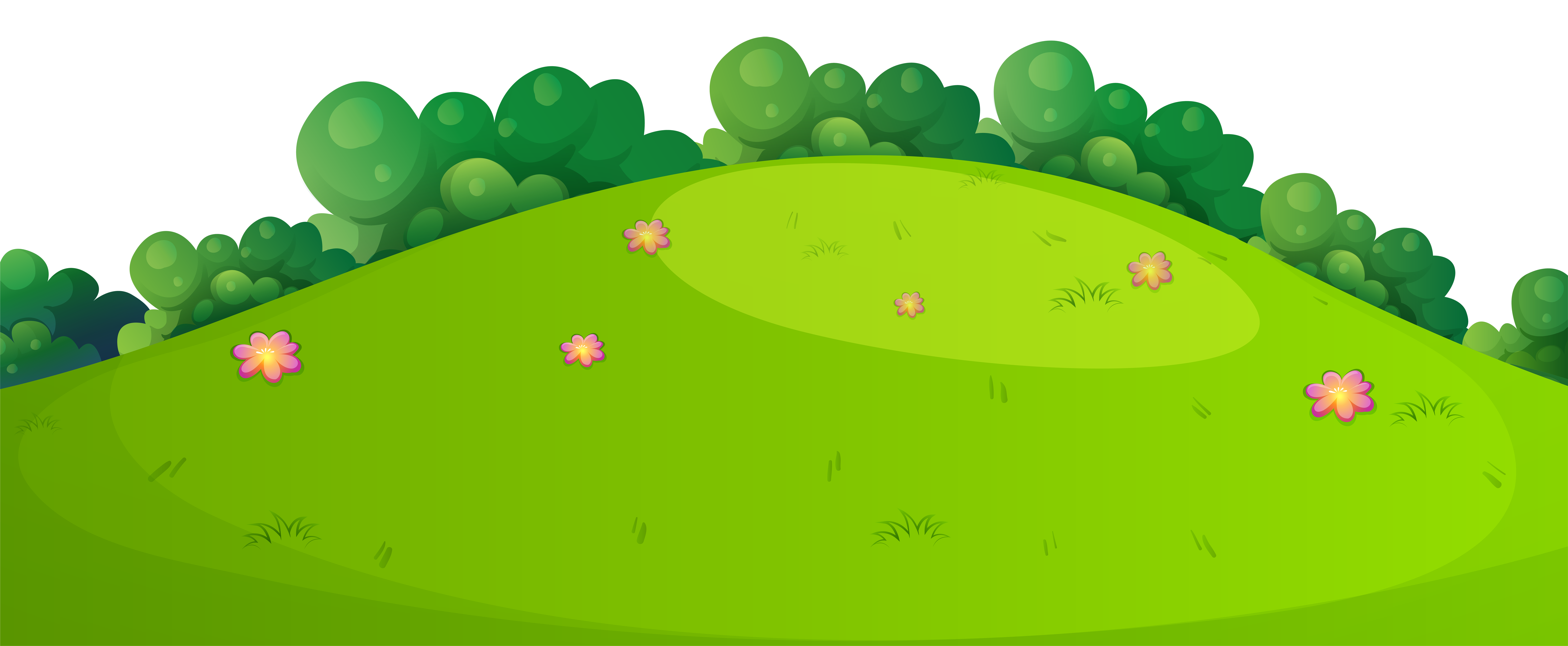 Meadow Background Clipart.