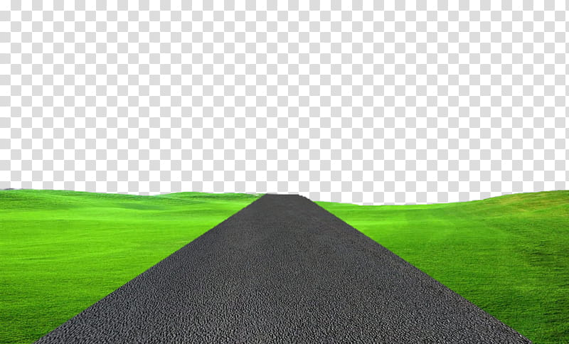GROUND AND ROAD TRANSPRENT, road between green fields.