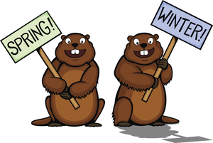 Groundhogs Clipart Image.