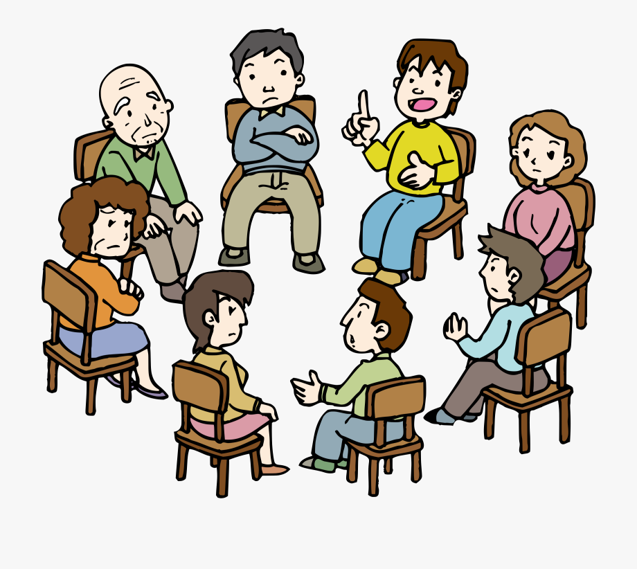 Jpg Royalty Free Stock Conversation Clipart Group Therapy.