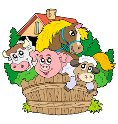 Group of Farm Animals Clipart Vector Images (58).