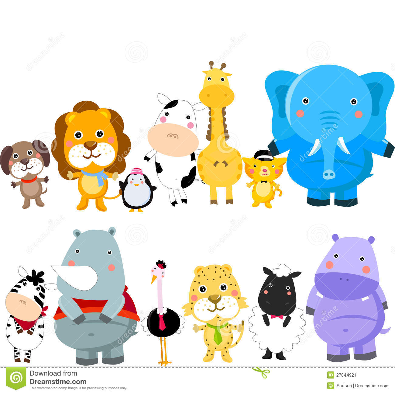 Group Animals Clipart Free.