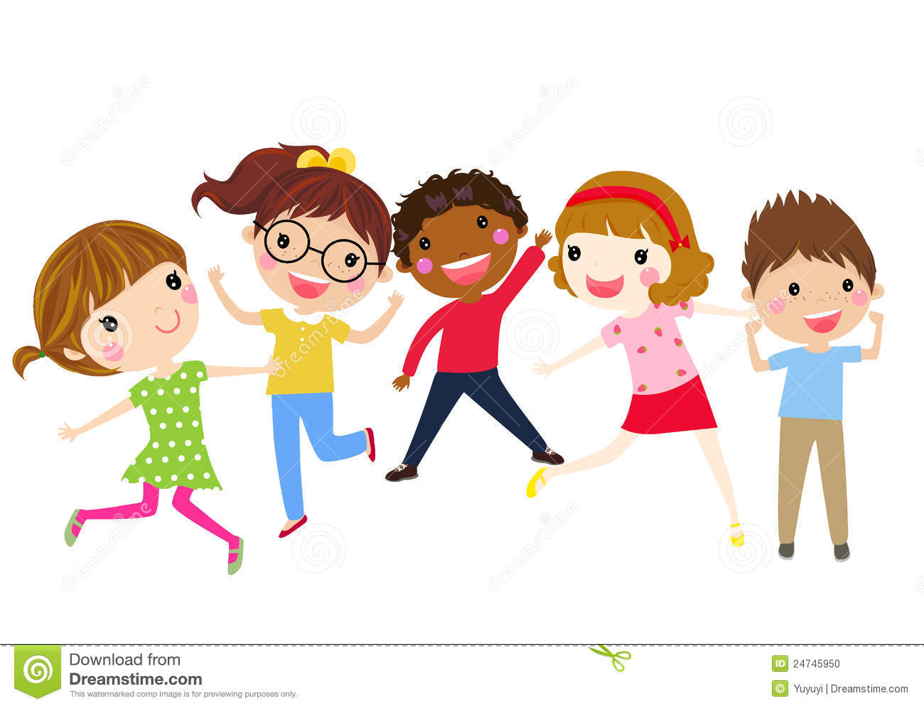 Children Having Fun Clipart.