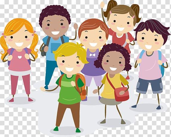 Children , Child Cartoon Illustration, School children.