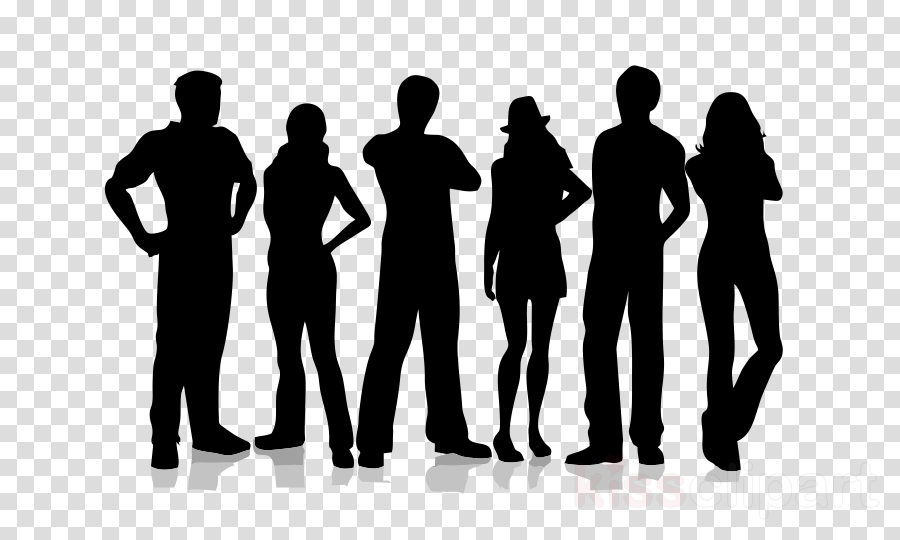 social group people silhouette standing community clipart.