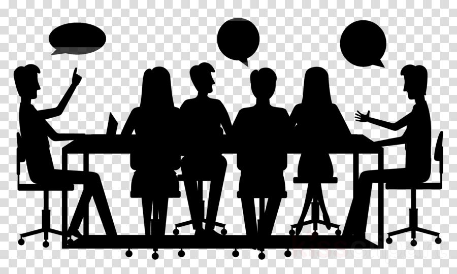 social group people silhouette team conversation clipart.