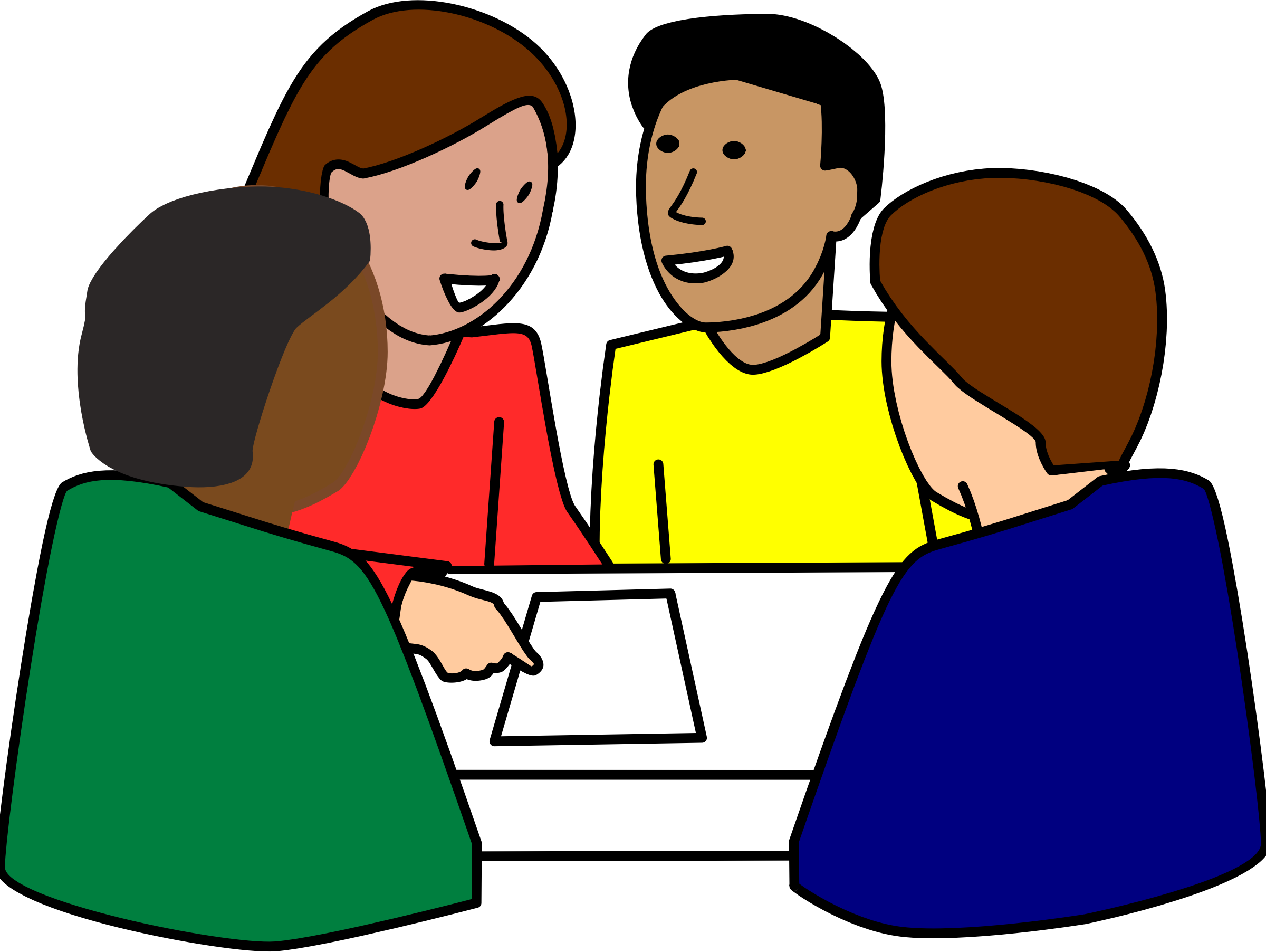 319 Group Work free clipart.