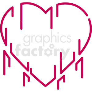 love grows organically vector art . Royalty.
