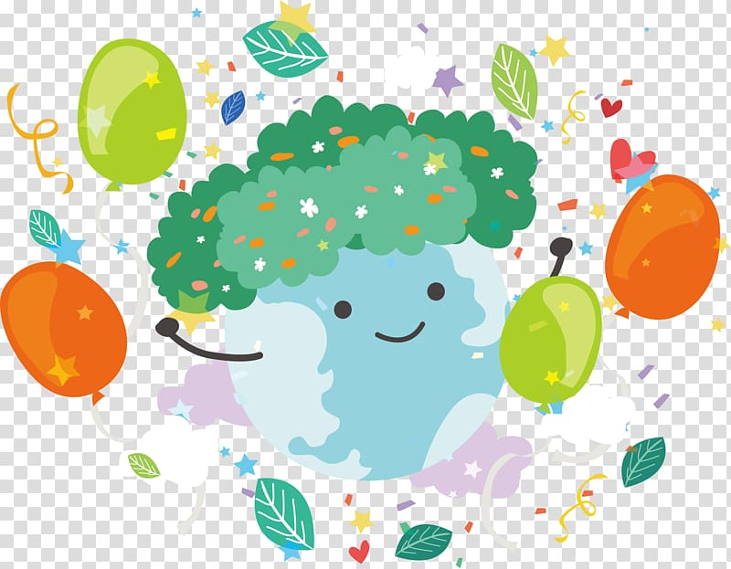 Greeting Illustration, Good morning greetings from the earth.