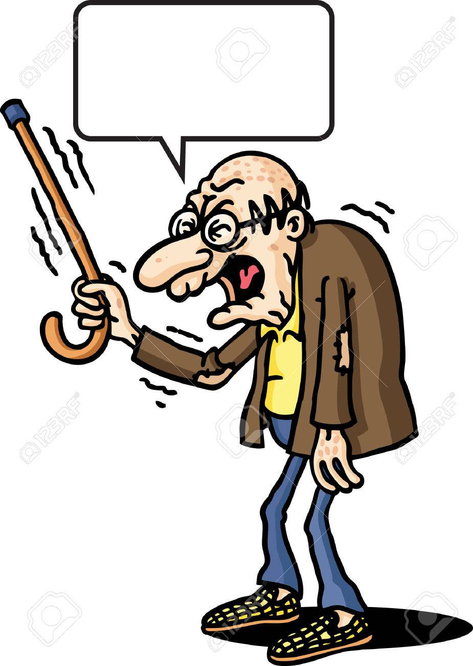 Grumpy old man clipart 7 » Clipart Station.