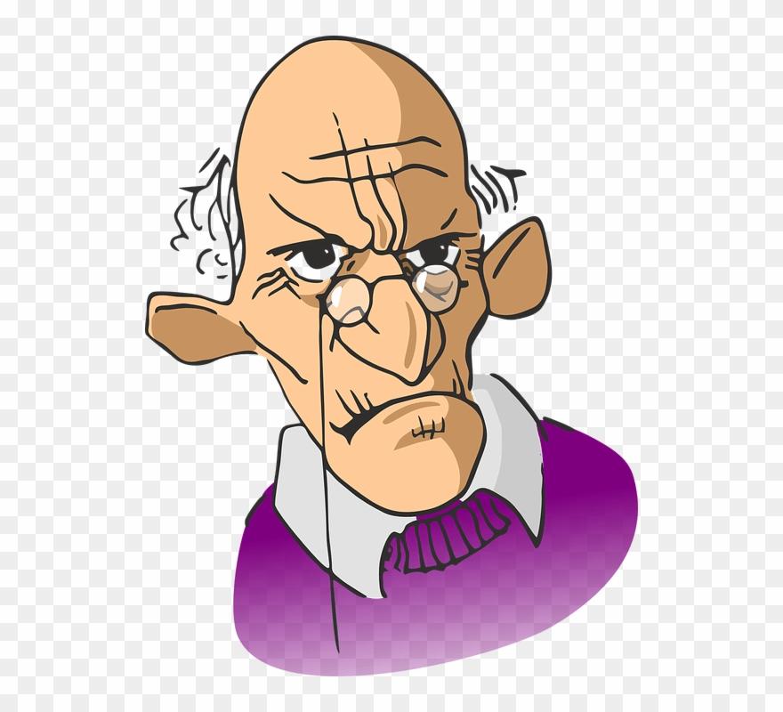 Old Grumpy Man Cartoon Clipart (#933723).