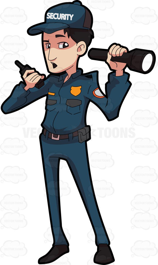 Security guard clipart 6 » Clipart Station.