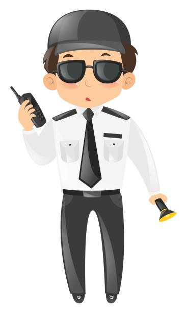 Best Security Guard White Background Illustrations, Royalty.