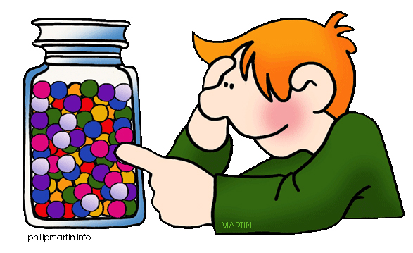 Marbles In A Jar Clipart.
