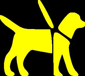 Yellow Guide Dog Clip Art at Clker.com.