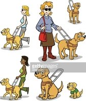 Seeing Eye Guide Dog stock vectors.