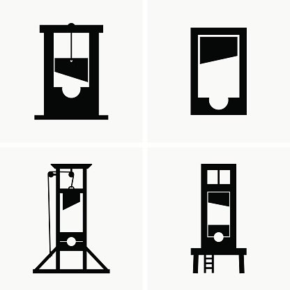 Guillotines Clipart Image.