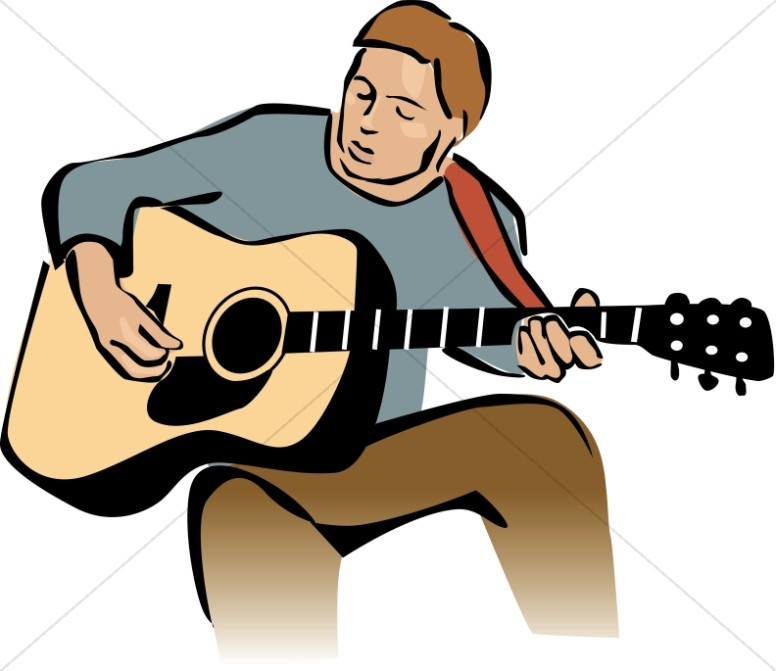 Guitar player clipart 5 » Clipart Station.