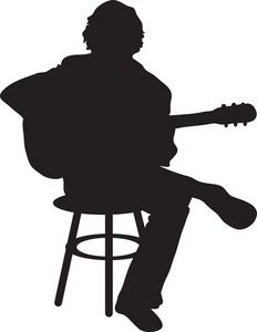 Guitar Player Clipart Image.