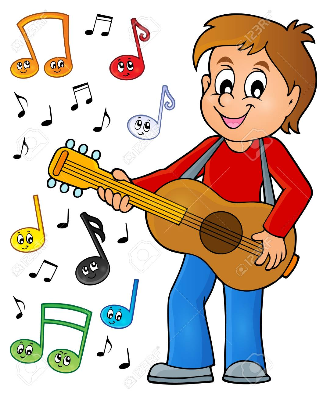 Boy guitar player theme image 2 » Clipart Station.