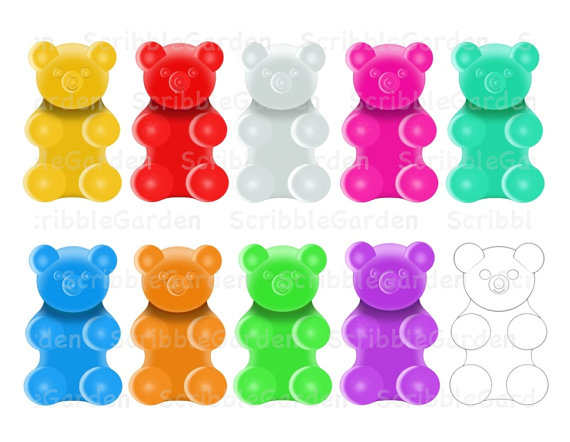 gummy bear clipart gummy bear clipart. gummy bear clip art.