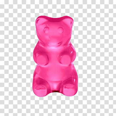 Vol , pink gummy bear transparent background PNG clipart.