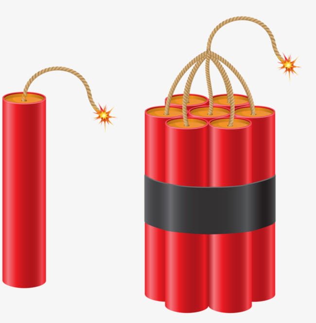 Gunpowder explosives PNG clipart.