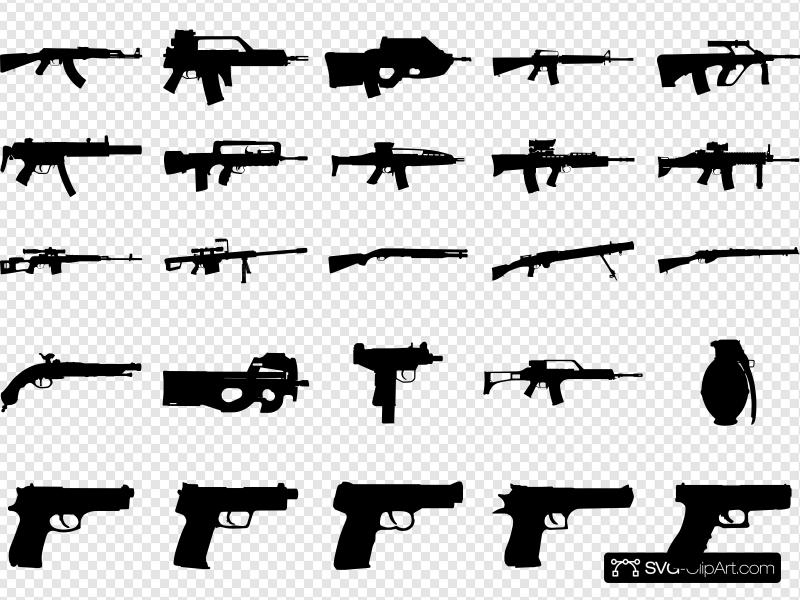 Clue Guns Pack Clip art, Icon and SVG.