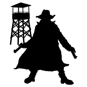 Gunslinger Silhouette clipart, cliparts of Gunslinger.
