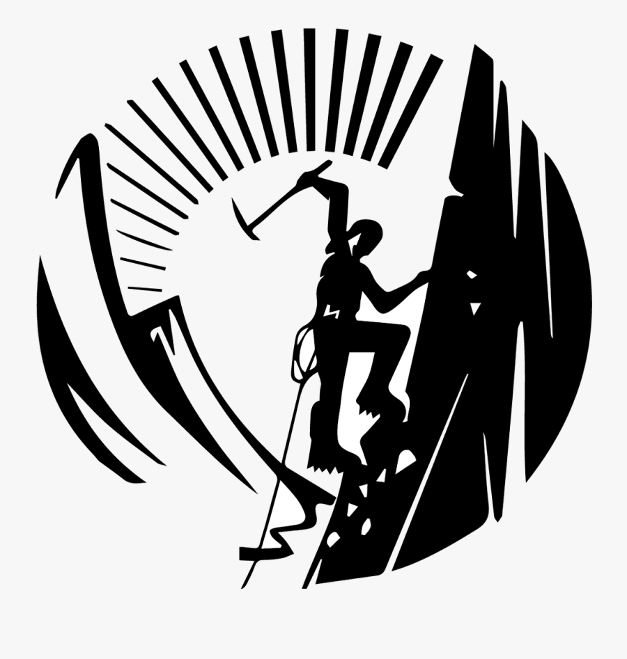 Climbing Mountaineering Vector Graphics Image Stock.