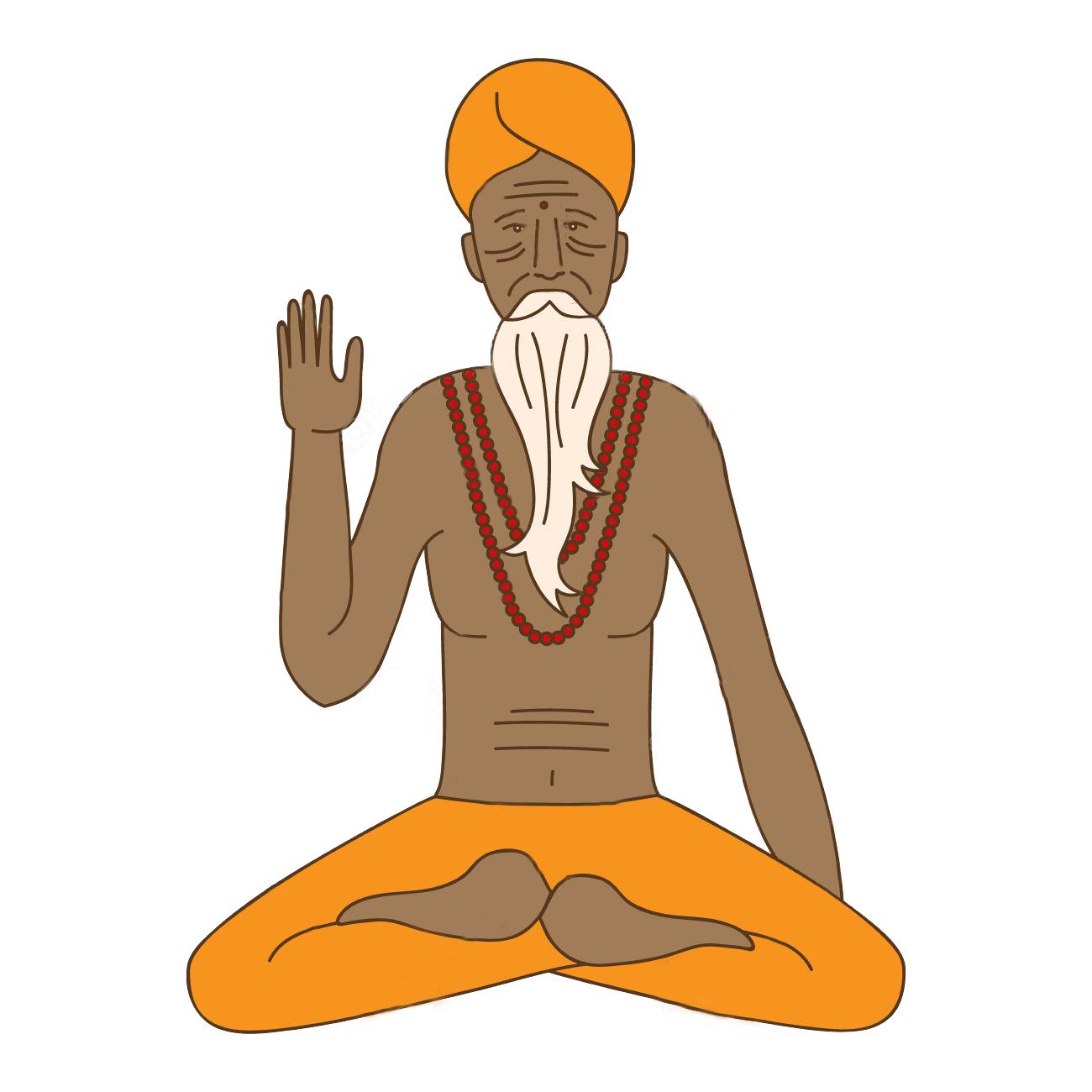 Meditation, Clipart, Guru, No watermark, High Resolution.