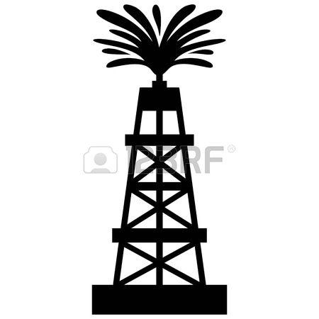 Oil Gusher Clipart.