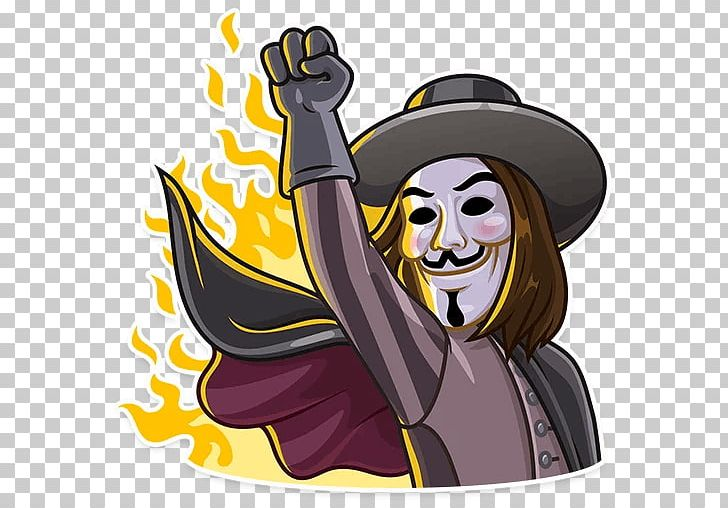 Sticker Telegram Guy Fawkes Mask Illustration PNG, Clipart.