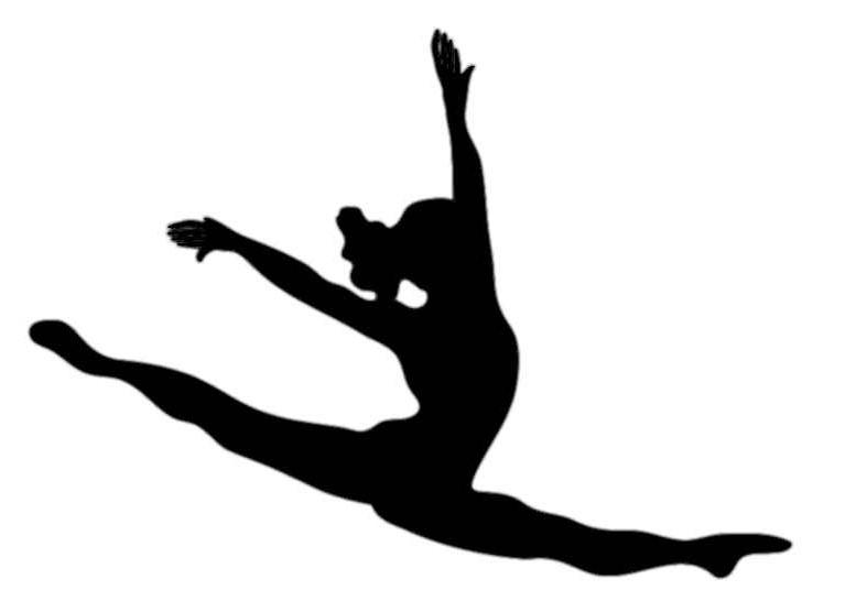 Gymnastics Black And White.