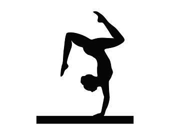 Gymnast clip art.