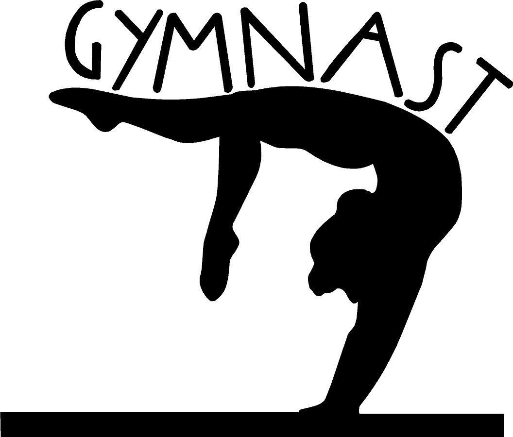 With Clipart Gymnastics Girl.