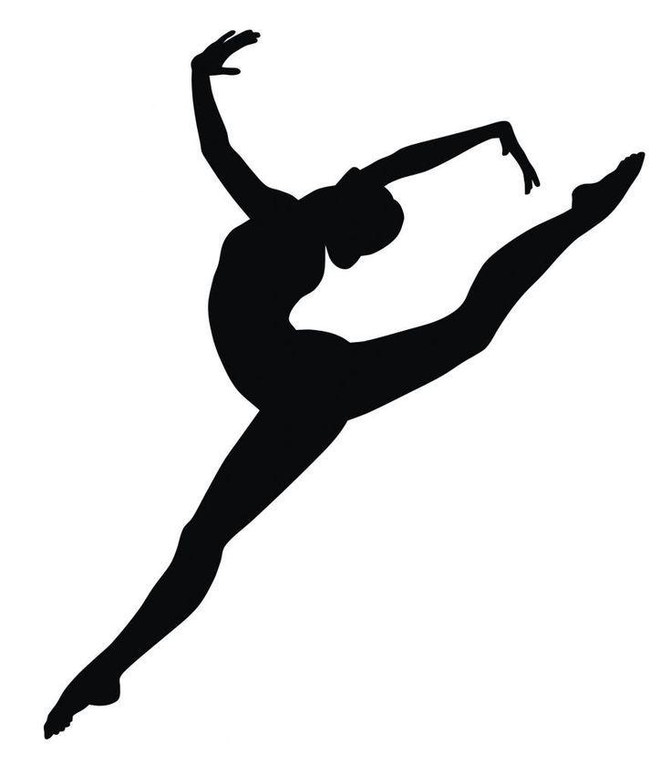 Gymnastics Poses Clipart.
