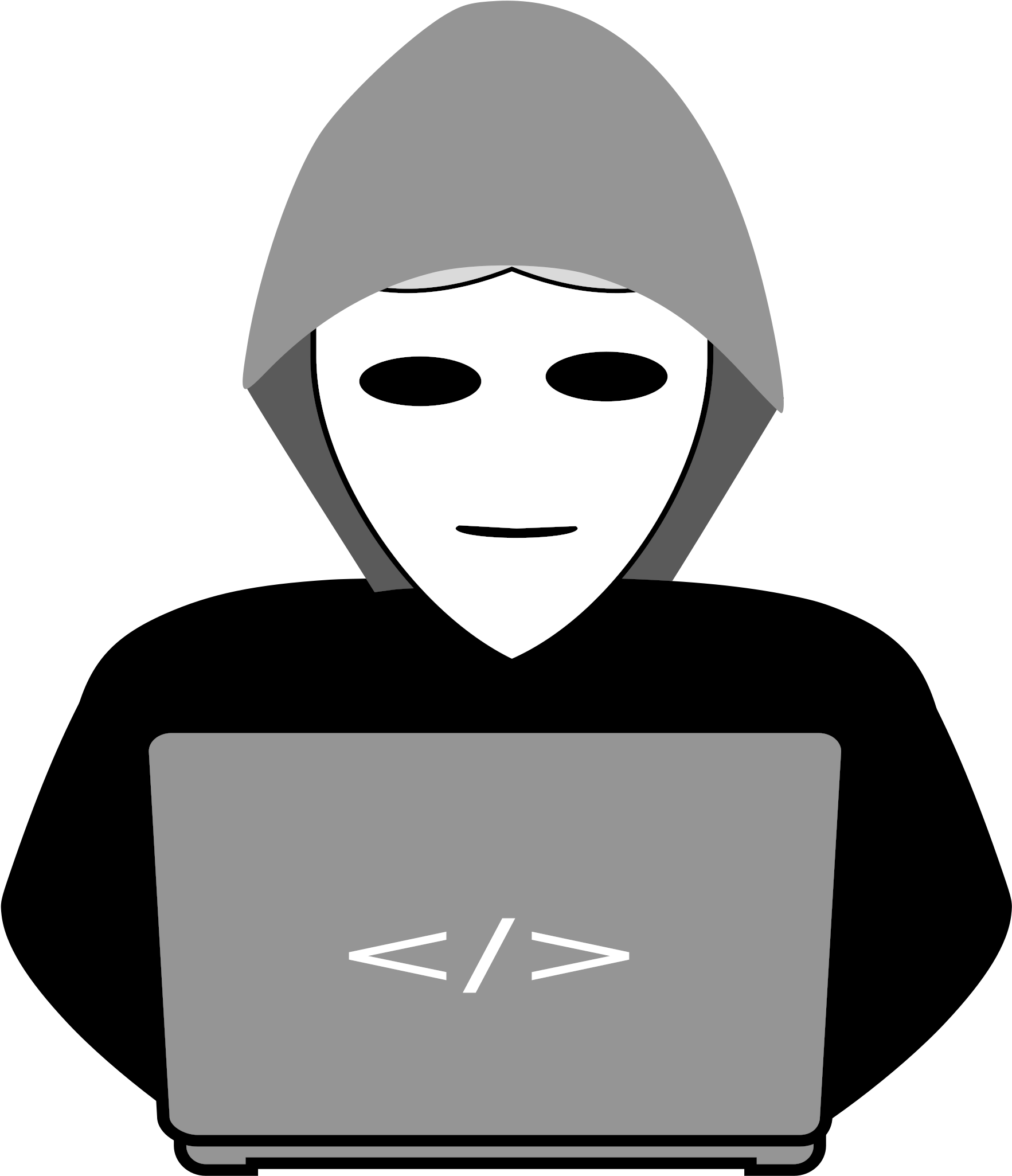 Computer Clipart Character.