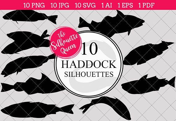 Fishing SVG , Haddock Fish SVG, Haddock Fish Cut File for.