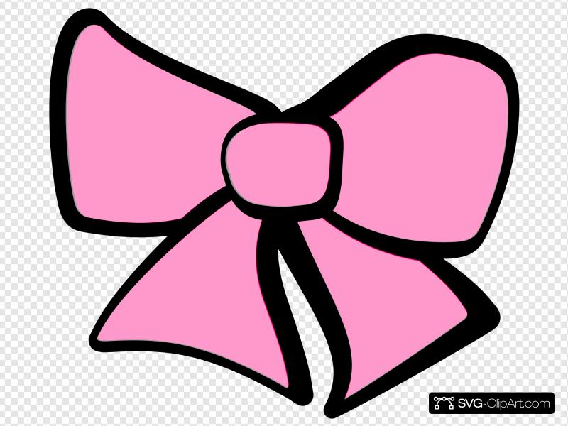 Hair Bow Pink Clip art, Icon and SVG.