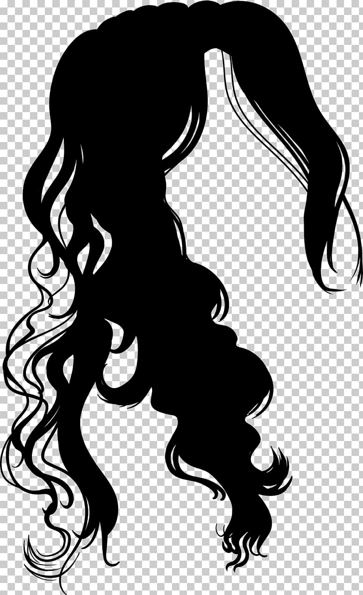 Hairstyle Cosmetologist Beauty Parlour , hair silhouette PNG.