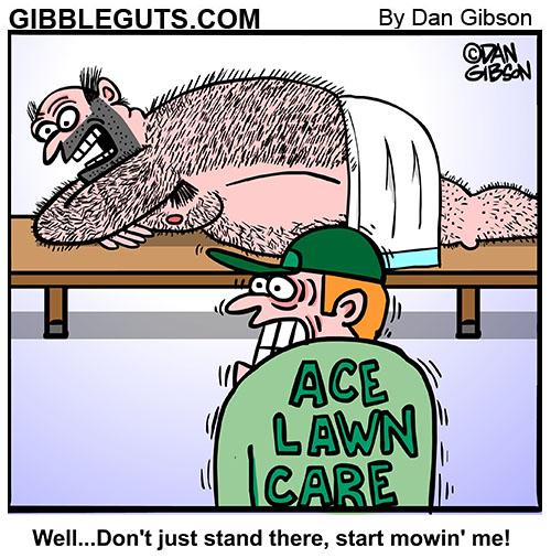 Hairy back cartoon from Gibbleguts.com.