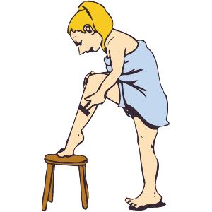 Shaving Legs Clipart.